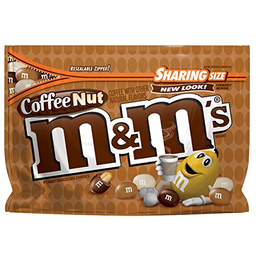 M&M's Coffee Nut Peanut Chocolate Candy Sharing Size 9.6-Ounce Bag