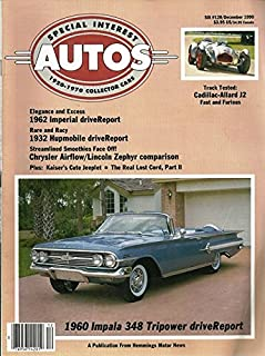 1990 90 December Special Interest Autos Magazine, Number # 120 (Drive Reports: 1960 chevrolet Impala / 1932 Hupmobile / 1962 Imperial / 1950 Allard J2)