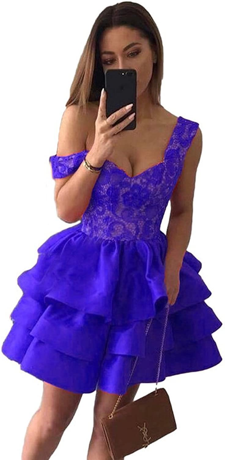 CCBubble Short Lace Homecoming Dresses 2018 Homecoming Graduation Party Dresses