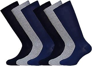 Fontana Calze, 6 paia di calze lunghe bambino ragazzo in caldo cotone elasticizzato. Prodotto Italiano