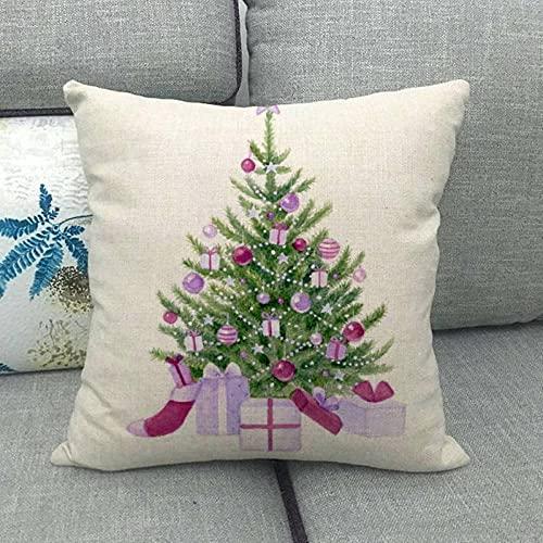 Especial de Navidad para el hogar cálido sofá de Lino Coche cojín/Funda de Almohada 822-15_45 * 45cm