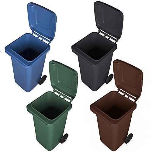 JESTIC Mülltonne Abfalltonne Reststofftonne 120L laufruhige Vollgummi-Räder NEU (braun)