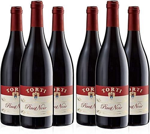 Pinot Noir IGT Vino Tinto Italiano - Torti Uvas Cultivadas Orgánicamente Cosechadas a Mano - Ganador del Premio Torti Wine caso de 6