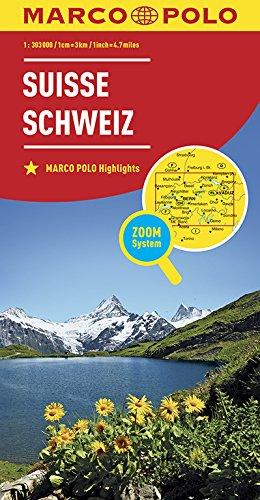 Marco Polo Zwitserland: Wegenkaart 1:303 000