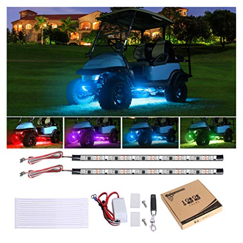 10L0L Golf Cart Underglow LED Light Strip Kit, 13 Modes Glow Neon Lighting with Wireless Remote Control, Sound Active,...