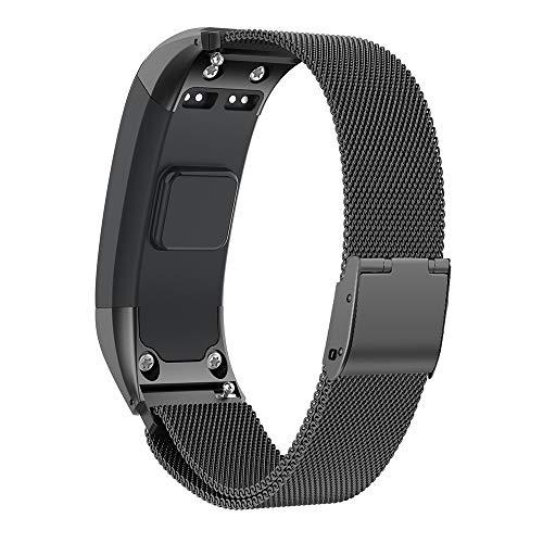 NotoCity Kompatibel Vivosmart HR Armband Uhrenarmband Einstellbare Freie Größe Schnellverschluss Armband Fitness Tracker Smart Uhrenarmband Ersatzband Armband (Schwarz,S)