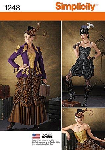 Eenvoud creatieve patronen 1248 Misses' Steampunk Kostuums, Grootte: R5 14-16-18-20-22 door eenvoud creatieve patronen