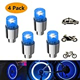 RuiQ Waterproof Led Tire Lights, Bicycle Wheel Lights, Car Tire Valves, Led Highlight Tires, Universal Tire Lights, The Coolest Easter Gifts for Loved Ones, Children