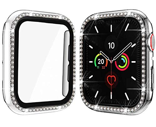 ZHONGGOZZ Cubierta de Vidrio + para Apple Watch Case 44mm 40 mm IWATCH 42mm 38mm Protector de Pantalla de Parachoques Accesorios para la Serie de Relojes Apple 6 5 4 3 2