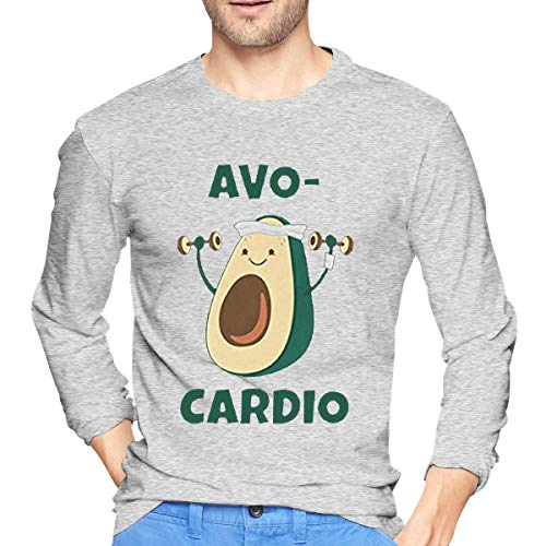 road Mens Casual Style Men's Long Sleeve T-Shirts Print AVO Cardio Camisetas y Tops(Small)