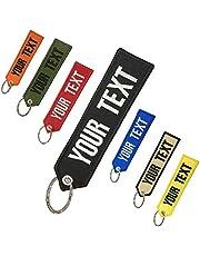Llavero personalizado con texto propio, llaveros personalizados para motocicletas, coches, todoterrenos, scooters, doble cara para motocicletas, scooters, coches y coches