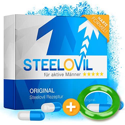*NEU* Steelovil I Natürliches Potenzmittel mit neutraler Lieferverpackung I Plus gratis Ring I Neue Formel I Ultra Stark