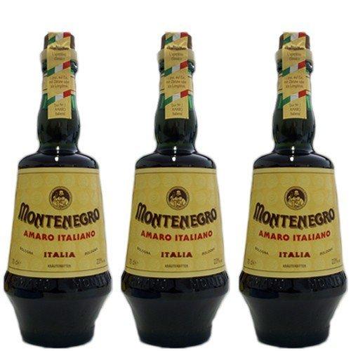 3x Montenegro italienischer Likör 'Amaro Italiano', 700 ml