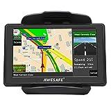 GPS de Voiture Navigation Auto 8G LCD 5 Pouce à Ecran Tactile Système de Navigation avec 48 Cartes Intégrés Support Carte TF