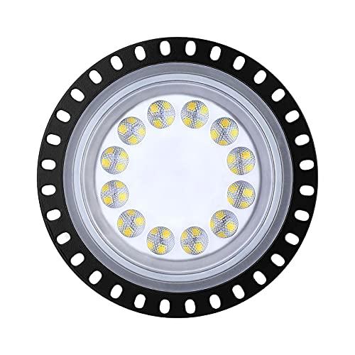 BUKEHANWEI Luz LED de Gran Altura, 6000K-6500K Lámpara de Garaje Accesorio de iluminación LED ultradelgado para almacenes, IP65 Iluminación de bahía Comercial a Prueba de Agua,Cold white-50W