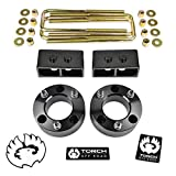 TORCH 3' Leveling Lift Kit For 2004-2014 Ford F150 F-150 4WD 2WD 2' Rear Tapered Blocks