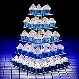 ANJI Soporte para cupcakes Depot para cumpleaños 4 en 1, 5 animales, con cadena...