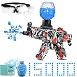Electric with Gel Ball Blaster-MP5,with 15000 Non-Toxic,eco-Friendly,Biodegradable Gellets, Outdoor Yard Activities Shooting Game (Ages 8+)