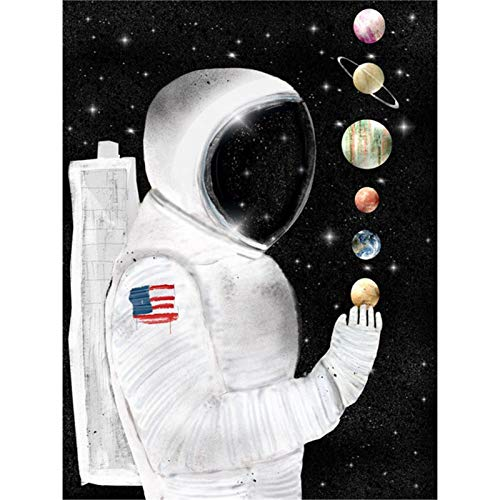 5d Diamond Painting Kits for Adults Kids Full Round Drill Diamond for Home Wall Decor Astronauts 11.8x15.7 in by Lazodaer
