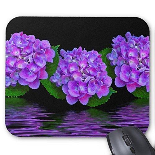 Goobull Viola fiori riflessi sull' acqua mouse pad design elegante, durevole tappetino mouse con fiori tappetino per mouse proteggere desktop del mouse