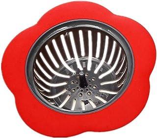 MaxFox Kitchen Water Sink Strainer Cover,Floor Drain Plug Bath Catcher Drain Plug Filter Home Tools (Red)