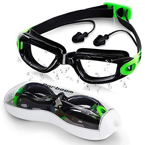 Parboom Schwimmbrille, Antibeschlag und UV-Schutz Schwimmbrille für Herren und Damen , Verstellbarem Silikonband für Erwachsene Jugendliche Kinder Unisex, mit Kostenlos Schutzetui, Ohrstöpsel