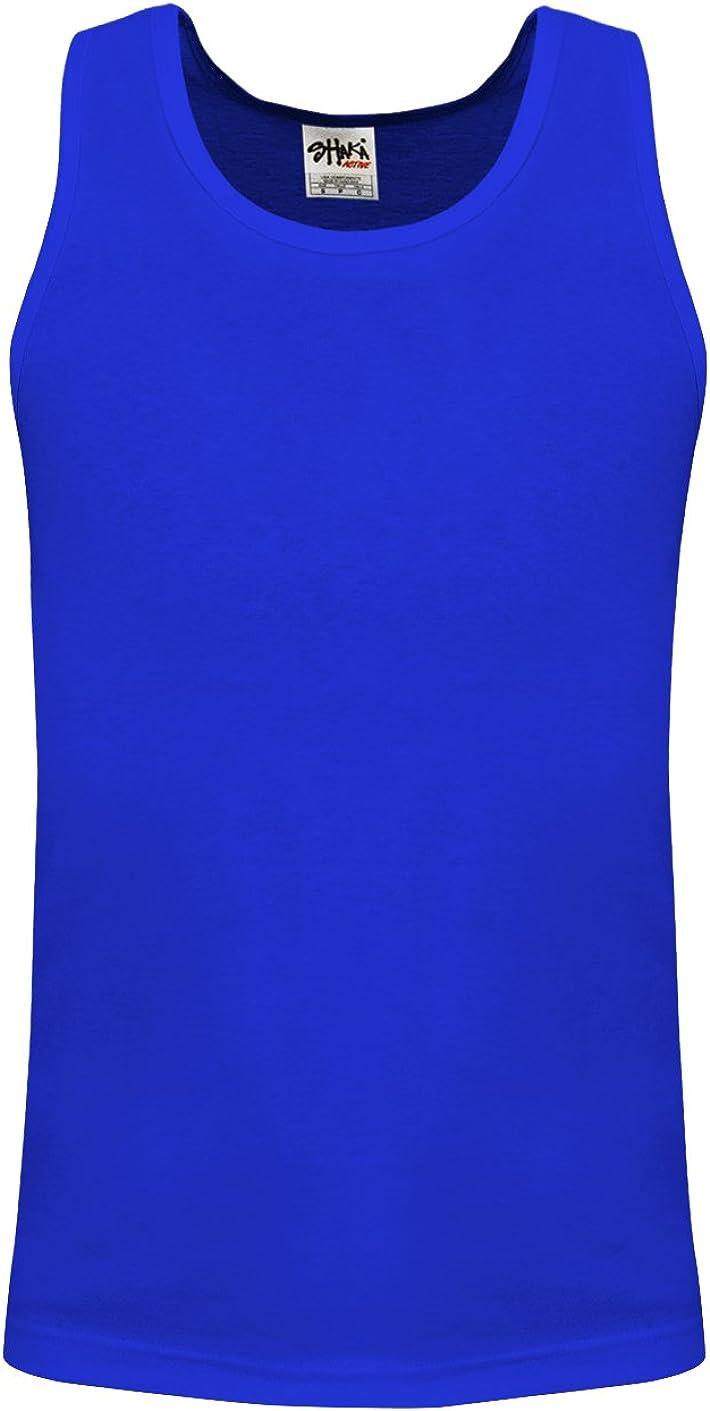 Shaka Wear Tucson Mall Men's Basic Sleeveless Tank 5 ☆ very popular Muscle Top Cotton Solid W