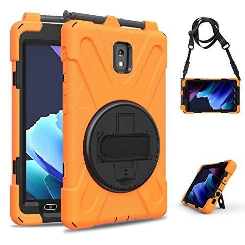 GUOQING Phone Case Pirate Series - Carcasa para Samsung Galaxy Tab Active 3 T570/T575, a prueba de caídas, polvo, a prueba de golpes, rotación de 360 grados