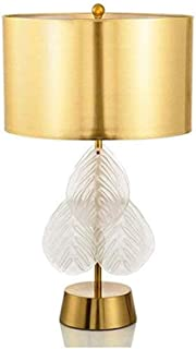 WYBFZTT-188 Table de Chevet Lampe Moderne Design de Verre métal Lampe Métal décoratif Chambre Feuilles Lampe de Bureau Lam...