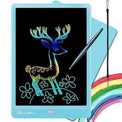 KURATU LCD Writing Tablets for Kids 10 inch Colorful Screen Electronic Drawing Pads Writing Board & Drawing Tablet Doodle Board Writing Tablets (Blue)