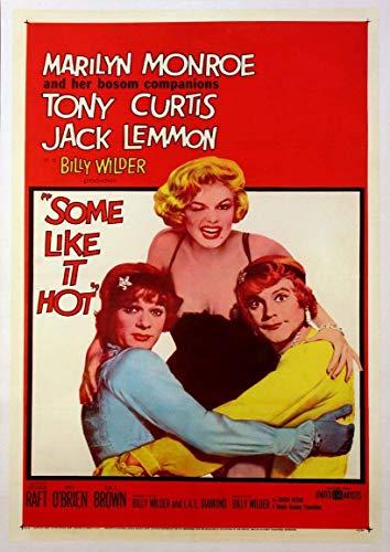 Poster affiche A Qualcuno Piace Caldo Vintage Cult Movie