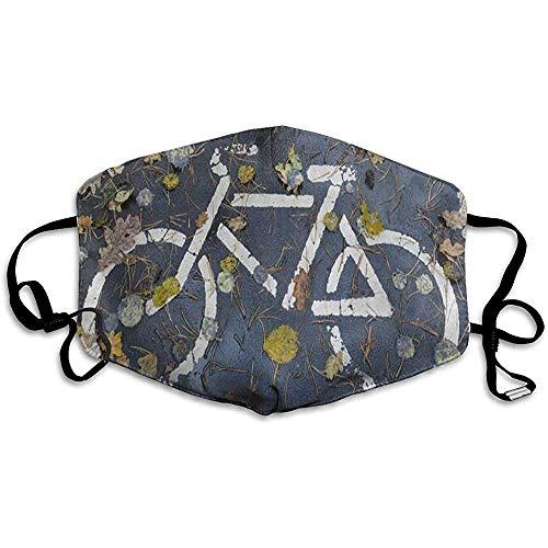 Gezichtsmasker Road Fiets Esdoorn Blad Bike Gezicht Winter Warmte Kleurrijke School Winkelen Mond Mask Mond Cover Stofmasker Dagelijks afdrukken Wasbaar Cover Masker Skiën