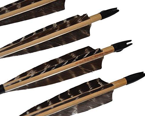 Holzpfeile mit Naturfedern in Handarbeit - 4