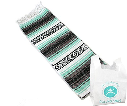 Rolling Sands Hand Woven Classic Mexican Yoga Blankets Cool...