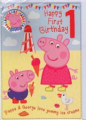 Gemma International Peppa Pig 1e Verjaardagskaart (Oud Model)
