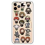 Funda para iPhone 11 Pro MAX Oficial de Harry Potter Personajes Iconos para Proteger tu móvil. Carcasa para Apple de Silicona Flexible con Licencia Oficial de Harry Potter.