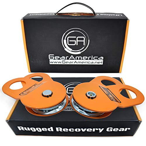 GearAmerica 2PK Snatch Block 9Ton | Heavy Duty Winch Pulley System for Synthetic Rope or Steel Cable | Double Winch Capacity, Extend Life, Control Direction of Pull | Best Off-Road Recovery Accessory