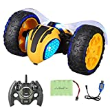 Fine Electric Lightnings RC Car,Radio Controlled Race Car, 360 Degree Spins & Flips/Auto Drive Mode/Extra Large Rubber Tyres & Powerful Motor,Rechargable Off Road Race Car (AS Show)