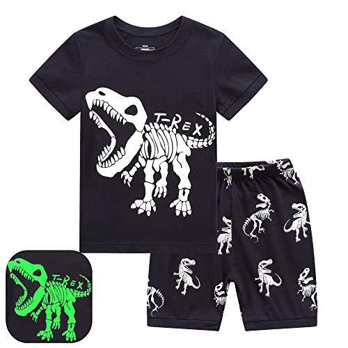 RKOIAN Little Boys Short Pajamas Sets Glow in The Dark Toddler PJS Cotton Kids Sleepwears...