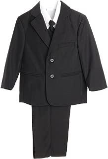 Little Gents 5 Piece Boy's 2 Button Dress Suit with Shirt, Vest, and Tie