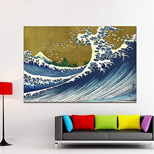 baodanla frameloze olieverfschilderij embelish canvas kunst Nihon Chinbotsu Ukiyoe muurschilderingen voor woonkamer katsushika Horizai Japan Ng Home Dec