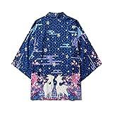 Mujeres Harajuku Cardigan Kimono Japonés Summer Carp Print Loose Shirt Tops Casual Mujer Hombre Kimonos Abrigo Pareja Yukata Kimonos-Style_K_M