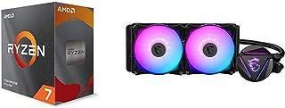 AMD Ryzen 7 3800XT 8-core, 16-Threads Unlocked Desktop Processor Without Cooler + MSI MAG CORELIQUID 240R - AIO RGB CPU Li...