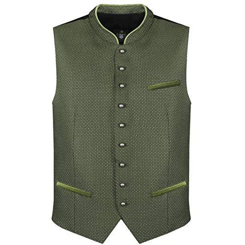 Hammerschmid Herren Trachten-Mode Trachtenweste Alfred in Grün traditionell, Größe:56, Farbe:Grün