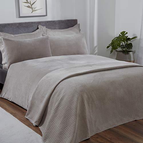 Sleepdown Pinsonic - Set di biancheria da letto con federe, motivo geometrico, in velluto di visone, super morbido, confortevole e lussuoso, 200 x 200 cm