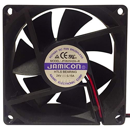 Ventilador de refrigeración de 24 V JAMICON 80 x 80 x 25 mm ventilador disipador de calor