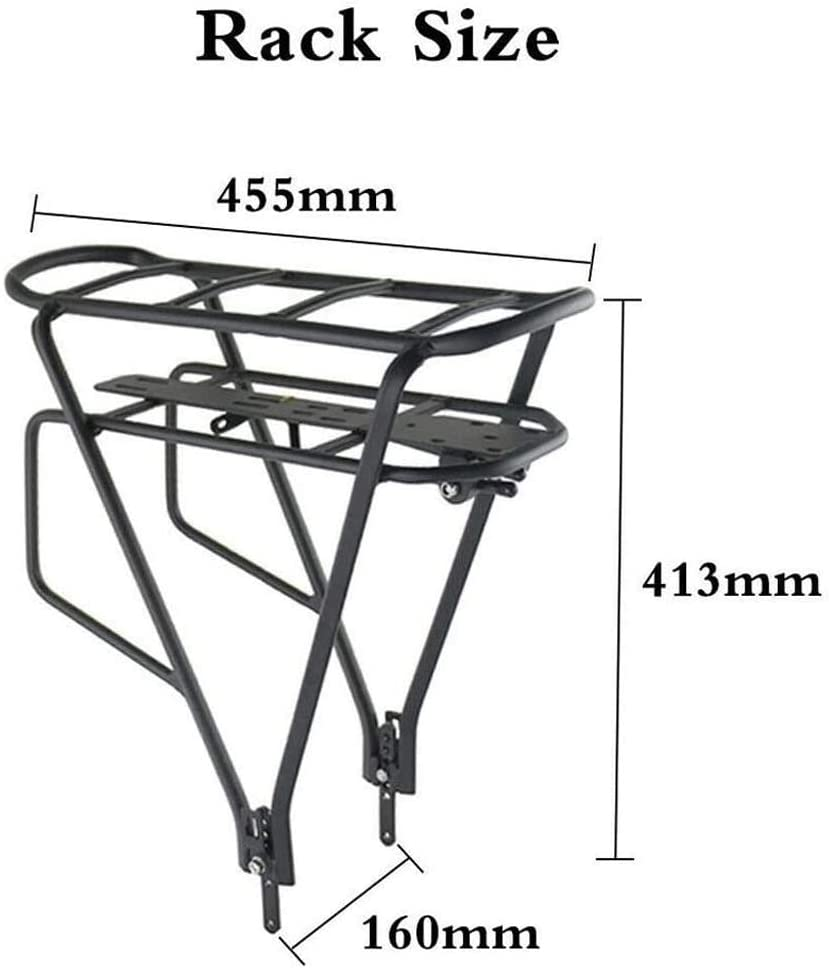 36V EBike Battery Rear Rack and Lamp 12-33Ah Electric Bicycle Lithium Li-ion Battery Large Capacity with Charger and USB Port for 500~1000W Motor,36V 12Ah