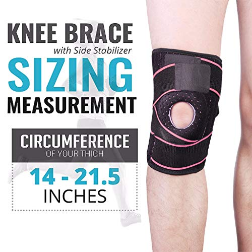 ZbbNice Knee Brace Compression Sleeve for Men Women with Side Stabilizers Patella Gel Pads for Best Knee Support for Running,Meniscus Tear, Arthritis, Pain Relief & Sports Injury Recovery