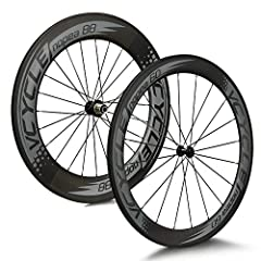 VCYCLE Nopea 700C Road Bike Carbon Wielset Front Wire Band Front 60mm Rear 88mm Shimano of Sram 8/9/10/11 Speed*