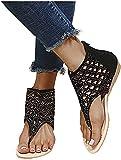 Sandali per Le Donne Dressy Summer Flat Crystal Sandali da Spiaggia Casual Infradito Sandali Piatti Comodi Sandali Open Toe Boho Scarpe Romane